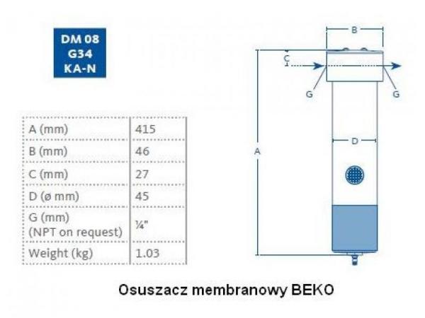 Membranowy DM08 G 34
