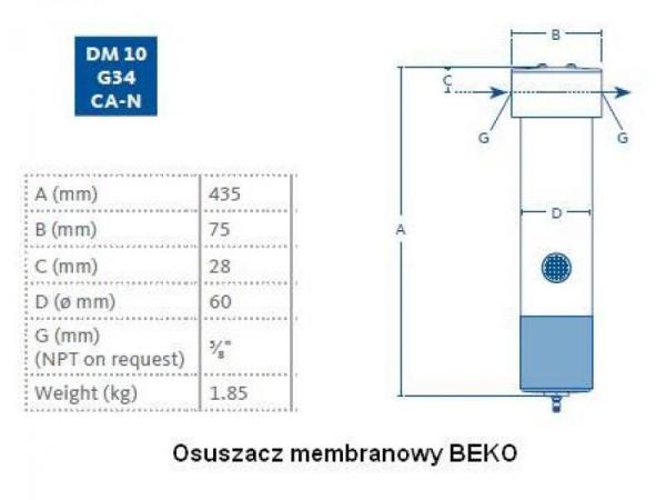 Membranowy DM10  G34