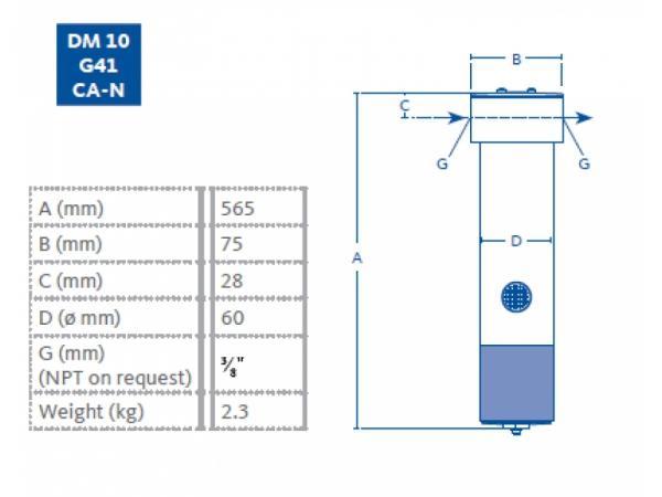 Membranowy DM10 G41 CA-N