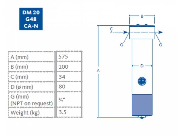 Membranowy DM20 G48 CA-N